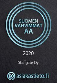 Suomen vahvimmat 2020 - Staffgate Oy